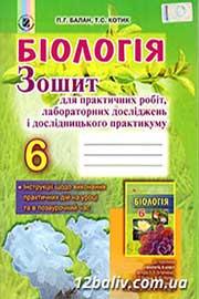 ГДЗ Біологія 6 клас П.Г. Балан, Т.С. Котик (2014). Відповіді та розв'язання