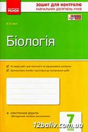 ГДЗ Біологія 7 клас К.В. Кот (2015). Відповіді та розв'язання