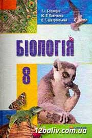ГДЗ Біологія 8 клас Т.І. Базанова, Ю.В. Павіченко, О.Г. Шатровський (2008). Відповіді та розв'язання