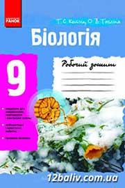 ГДЗ Біологія 9 клас Т.С. Котик, О.В. Тагліна (2012). Відповіді та розв'язання