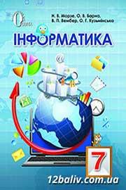 ГДЗ Інформатика 7 клас Н.В. Морзе, О.В. Барна, В.П. Вембер, О.Г. Кузьмінська (2015). Відповіді та розв'язання