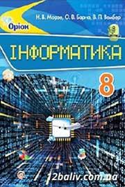 ГДЗ Інформатика 8 клас Н.В. Морзе, О.В. Барна, В.П. Вембер (2016). Відповіді та розв'язання
