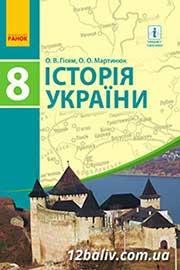 ГДЗ Історія України 8 клас Гісем О.В., Мартинюк О.О. (2016). Відповіді та розв'язання